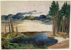 Landscape study of Water, Sky and Pine Trees (lluisribesmateu1969) Tags: dürer britishmuseum london 15thcentury