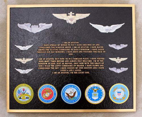 I am an Aviator plaque - Huntsville, AL