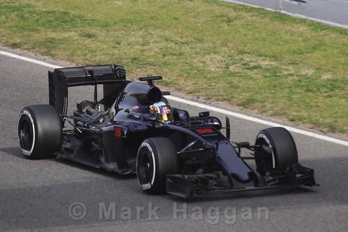 Carlos Sainz Jr in his Toro Rosso during Formula One Winter Testing 2016