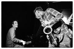 Louis Moholo-Moholo's Five Blokes @ Vortex Jazz Club, London, 16th March 2016 (fabiolug) Tags: leica blackandwhite bw music vortex london monochrome smile smiling 35mm blackwhite concert chat live voigtlander gig livemusic performance piano jazz rangefinder monochrom talking sax saxophone johnedwards biancoenero dalston pianoforte freejazz leicam jasonyarde alexanderhawkins fiveblokes louismoholo vortexjazzclub voigtlandernokton35mmf14 voigtlandernoktonclassic35mmf14 fourblokes voigtlander35mmf14 shabakahutchings louismoholomoholo mmonochrom leicammonochrom leicamonochrom vortexjazz