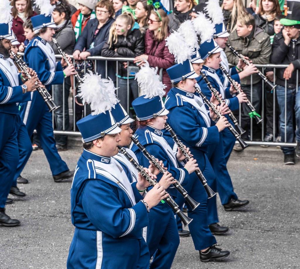 Christopher Newport University Marching Captains [ST. PATRICK'S PARADE 2016]-112439