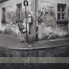 Happiness Calling (T-ammo) Tags: bw reflection poland polen jewish sw cracow krakau glcklich