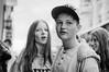 the next shot (jonron239) Tags: boy girl hoodie expression longhair glance oxfordcircus baseballcap