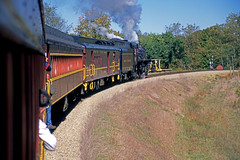 On the Connection to the Apex Branch (craigsanders429) Tags: steamtrain steamtrains passengertrains steamlocomotives passengercars excursiontrain ohiocentralrailroad excursiontrains ohiocentral1293 steamexcursions ohiocentralapexbranch