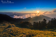 Albizzia julibrissin mountain, Taiwan  ( (Morris)) Tags: blue sunset sky orange cloud green yellow nikon ngc taiwan      tw                    108k    d7100