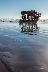 2016-01-10 - Peter Iredale Shipwreck-10 (www.bazpics.com) Tags: ocean sea usa beach water oregon america skeleton sand ship pacific or wave peter shipwreck frame hull wreck iredale