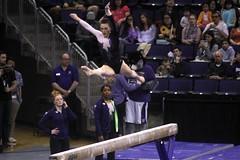 Alex Yacalis beam (1) (Susaluda) Tags: uw sports gold washington university purple huskies gymnastics dawgs