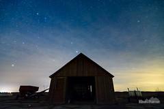 Midnight Barn (kevin-palmer) Tags: blue winter light sky yellow night clouds barn dark stars evening march illinois spring farm astrophotography pollution astronomy starry fultoncounty ipava campellis kevinpalmer astrometrydotnet:status=failed tokina1628mmf28 nikond750 astrometrydotnet:id=nova1476207
