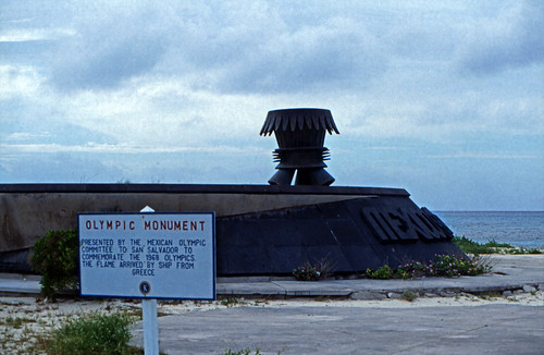 "Bahamas 1989 (714) San Salvador:Mexico Olympics Monument • <a style=""font-size:0.8em;"" href=""http://www.flickr.com/photos/69570948@N04/25470540783/"" target=""_blank"">View on Flickr</a>"