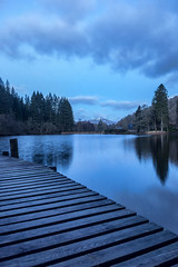 The Blue Hour, Loch Ard (MilesGrayPhotography (AnimalsBeforeHumans)) Tags: uk longexposure morning portrait sky water canon reflections landscape outdoors photography eos dawn scotland spring europe britain jetty scenic nd loch iconic benlomond ef waterscape 6d lochard f4l canonef24105mmf4lisusm canon6d