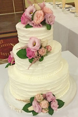 Floral Buttercream Wedding Cake