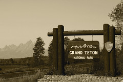 Welcome! - Explored (RPahre) Tags: monochrome sepia wyoming grandtetons tinted grandtetonnationalpark