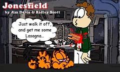GARFIELD MEETS ALIEN : JONESFIELD (DarkJediKnight) Tags: cat movie jones jon alien humor cartoon ridleyscott fake funnies parody spoof garfield jimdavis nostromo
