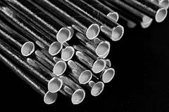 Silver Straws (WilliamND4) Tags: bw macro silver blackwhite nikon d750 straws tokina100mmf28atxprod tokina100mmf28lens