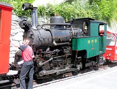 Brienz Rothorn Bahn - Locomotive No. 6 built by SLM in 1933 on arrival at Brienz on the 9th July 2012 (trained_4_life) Tags: switzerland brb berneseoberland cograilway brienzrothornbahn rackrailway