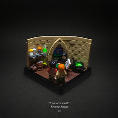 010 - Snape's Office (roΙΙi) Tags: harrypotter chamberofsecrets severussnape ron weasley dungeon office interior forcedperspective hogwarts rowling bricks magic vignette