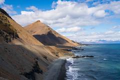 Route 1 (susanbrzozowski) Tags: ocean sea beach water landscape is iceland seaside cliffs east seashore slopes