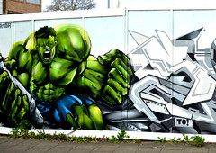 Kingston Urban Art - 1 (Tony Worrall Foto) Tags: show county street city uk greatbritain england urban streetart london art english colors wall graffiti stream paint tour open arty place painted south country capital visit location tourist urbanart made southern kingston area colourful southeast update attraction kingstonuponthames daub
