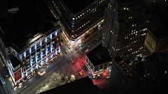 Sight from Empire State Building (La Sociedad Heliogrfica) Tags: street nyc newyorkcity building cars night noche lowlight cityscape nightlights streetphotography empirestate fotografanocturna