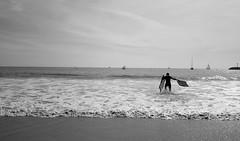 Catch a wave (C_Kho) Tags: ocean california leica bw beach monochrome surf pacific orangecounty oc boogieboard beachboy catchawave leicaq