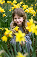 Spring time! (Craig Skinner - www.craigskinnerphotography.co.uk) Tags: park family flowers flower green girl smile yellow easter children fun 50mm nikon child play sheffield yorkshire daughter daffodil laugh southyorkshire s12 d7100 hollinsend