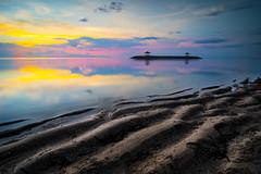 [K3GP4499pp2] NEW DAY IN BALI (JW Hisham Marmin) Tags: sunset sea bali seascape beach nature water rock indonesia landscape waves dri hdr highdynamicrange sanur k3 photomatixpro leefilter pantaikarang hishammarmincom hishammarmin pentaxk3 pentaxsmcpda1224mmf4edalif boatlee105mmlandscapepolariser