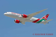 B787-8 5Y-KZJ KENYA AIRWAYS (shanairpic) Tags: losangeles lax b787 jetairliner dreamliner boeing787 kenyaairways5ykzj
