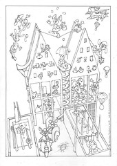 Happy Easter colouring plate (Maarten Ruijters) Tags: michaelgraves ministerievanvws easerbunny colouringplate