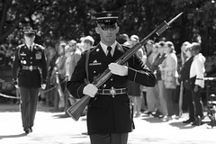 2016-04-24_0154_BW (rexographer) Tags: sentinel tomboftheunknownsoldier unknowns tombguard theoldguard
