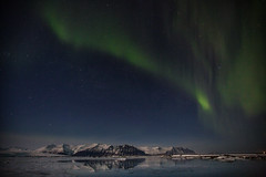 Iceland 2016 (Sandro Bisaro) Tags: lake snow mountains ice night canon stars landscape island iceland outdoor snowy lagoon aurora iceberg landschaft northernlights auroraborealis jokulsarlon jkulsrln islanda glacialriverlagoon canonef1635mmf28liiusm canon5dmarkiii sandrobisaro