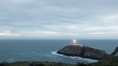 Find a beacon of hope (OR_U) Tags: uk longexposure sunset lighthouse seascape motion wales clouds landscape waves widescreen horizon le oru 169 cloudscape anglesey holyhead southstack hss 2016 sliderssunday