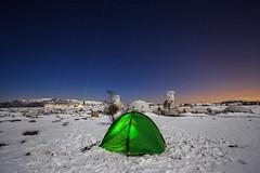 Moon Laser & My Tent (jpmiss) Tags: sky snow france night stars cotedazur nightscape paca observatory ciel laser neige fr nuit toiles frenchriviera moolit caussols provencealpesctedazur calern cerga canon6d jpmiss observatoiredelactedazur gi2t