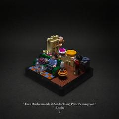 002 - Petunia's Masterpiece (roΙΙi) Tags: harrypotter chamberofsecrets dobby harry interior kitchen yumwhodoesntlikecake hogwarts rowling bricks magic vignette