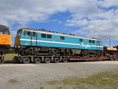 86701 + 86235 on Allelys low loaders at Barrow Hill ex 0Z86 30/03/2016 (37686) Tags: ex low hill barrow loaders 86701 allelys 86235 0z86 30032016