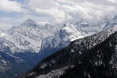 Widok z Gęsiej Szyji na Gerlach i Rysy