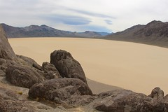 North overlook from The Grandstand (daveynin) Tags: rock desert nps playa deathvalley monolith partlycloudy drylakebed