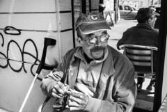 IlGiovediDiDomenico_03 (Naraphotos) Tags: portrait bar hands hand tram oldman mani mano spaghetti autobus ritratto caff reportage domenico sigarette panchina trattoria solitudine rotaie anziano amatriciana stampella gioved tranquilli