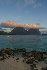 Sunset on Lord Howe Is (NettyA) Tags: day2 sunset sky beach water clouds boats coast rocks australia hills coastal shore nsw karst unescoworldheritage lordhoweisland thelagoon lhi calcarenite mtgower mtlidgbird lordhoweforclimate
