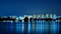 Singapore Public Housings (jcjocom) Tags: longexposure nightphotography night singapore lakeside jurong hdb publichousing