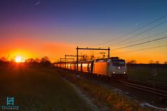 LTE 186 427, Rijssen 17-01-2016 (Henk Zwoferink) Tags: sunset photoshop zonsondergang 186 427 henk bombardier holten traxx rijssen vtg lte rhenus graantrein railpool zwoferink