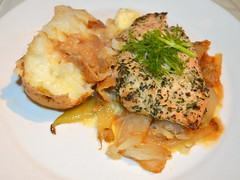 Herb Crusted Chicken Breast, Braised Celery & Fennel, Jacket Potato (Tony Worrall Foto) Tags: uk england food chicken make menu yummy nice yum dish photos sauce tag cook tasty plate eaten things images x meat made eat foodporn add meal taste dishes cooked tasted grub iatethis foodie flavour plated foodpictures ingrediants picturesoffood photograff foodophile 2016tonyworrall