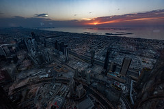 Dubai Sunset (Senator685) Tags: nikon dubai uae nikkor unitedarabemirates atthetop 1424 d810 burjkhalifa
