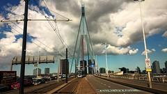 Toen wij uit Rotterdam vertrokken... (Peter ( phonepics only) Eijkman) Tags: city haven holland netherlands rotterdam harbour transport nederland bridges tram rail rails trams ret strassenbahn zuidholland streetcars nederlandse bruggen citadis