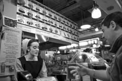 Reading Terminal Market, 2016 (Alan Barr) Tags: street blackandwhite bw philadelphia monochrome mono blackwhite fuji market streetphotography sp fujifilm streetphoto x70 readingterminalmarket 2016 readingmarket