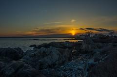 Sunset On the Rocks (massbat (moved to Maine)) Tags: sunset coast spring maine newengland atlantic kennebunkport oceanave