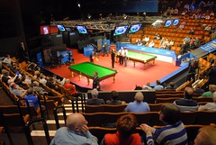 Two tables and no dividing wall (zawtowers) Tags: world door two orange championship afternoon allen theatre mark sheffield entrance first round tables tuesday april mann session mitchell mid snooker 19th crucible interval 2016 betfred thehomeofsnooker