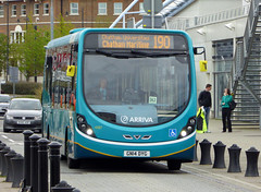 ASC 4287 - GN14DYG - FRONT - CHATHAM DOCKSIDE - SAT 23RD APR 2016 (Bexleybus) Tags: kent dock side route southern chatham 190 counties dockyard arriva thameside wrightbus 4287 streetlite gn14dyg