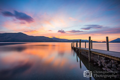 Ashness Jetty - Derwentwater The Lakes (Christopher Pope Photography) Tags: sunset jetty lakes lakedistrict cumbria derwentwater bluehour colourful ashness ashnessjetty