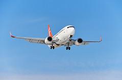 Stephen M. Fochuk Yukon AIr North (Stephen M. Fochuk) Tags: airplane nwt aeroplane yukon boeing northwestterritories 737 yellowknife airnorth nikond4 cyzf