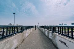 Sunnyside pedestrian bridge (AshtonPal) Tags: toronto lakeontario parkdale downtowntoronto gardinerexpressway blogto torontoist torontowaterfront lakeshoreblvdwest nikond810 nikon1424mm sunnysidebridge torontobridges april2016 sunnysidepedestrianbridge